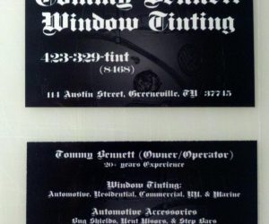 Tommy Bennett Window Tinting